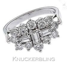 18 Carat Cluster White Gold Fine Diamond Rings