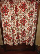 VINTAGE STYLE GREEN RED BLUE PINK MEDALLION FLORAL (PAIR) SHORT PANELS 42 X 54