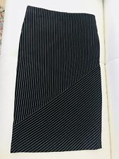 WITCHERY WOMENS SKIRT PONTE SPLICE BLACK STRIPED STRETCHY NWT SZ 99