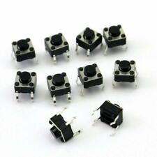 20pcs 4 Pins Momentary Tactile Push Button Tact Switch Black 6x6x5mm USA Seller