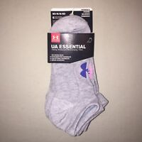 Womens Size M Under Armour No Show Socks 6 Pairs Gray / Multi Color Nwt