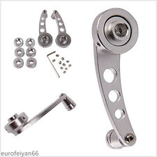 A Pair Silver Vehicles Glass Window Cranks Handle Knobs With 3 Sets of Adapters