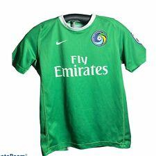 New York Cosmos NASL Soccer Nike Jersey Green Boys Size Medium Used