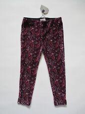 NWT Zara Girls Casual Collection Burgundy Paisley Corduroy Legging Pants 4 yrs