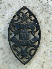 CAST IRON     THE W ROYAL EMBOSSED      GREAT CONDITION