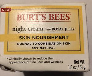 Burt's Bees Skin Nourishment  Night Cream with Royal Jelly (1.8 oz)