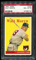 1958 Topps Baseball #122 WALT MORYN Chicago Cubs PSA 8 NM-MT