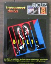 BILLY IDOL ROCKON TRANSPARENT DECAL 1984 RARE NEW
