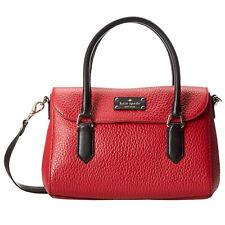 Kate Spade Grove Court Small Leslie Satchel Handbag DYNASTY RED colorblock