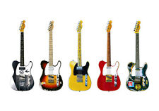 More details for five famous fender telecaster guitars - poster print a1 size