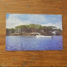 Vintage Postcard Boat Motering In Snug Harbor, Along Boothbay Harbor, Maine