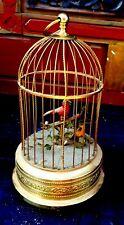 ancienne cage automate oiseaux chanteurs parfait état  fonctionnement H = 30 cm