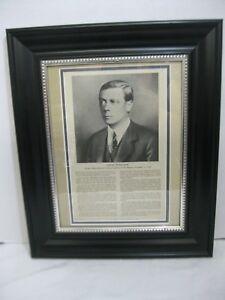 King Edward VIII Duke of Windsor 1936 Photo and Farewell Address Framed Print