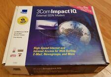 3Com Impact 3C877 IQ External ISDN Internet Modem PC & Mac