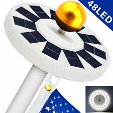 Solar Flag Pole Light, Flagpole Solar Light 800Lux- Hallomall 48Led Downlight