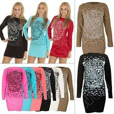 Crew Neck Long Jumpers & Cardigans Size Petite for Women