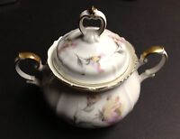 Edelstein, Bavaria Germany IRISH-ROSE Maria Theresia China SUGAR BOWL 21615