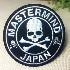 MMJ skull MASTERMIND Japan Appliques Embroidery Iron on Patch 3.5'' round
