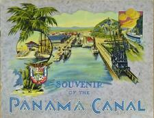 SOUVENIR OF THE PANAMA CANAL ~ c. - 1920