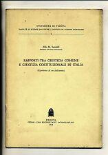 Sandulli#RAPPORTI GIUSTIZIA COMUNE/GIUSTIZIA COSTITUZIONALE ITALIA#CEDAM 1968