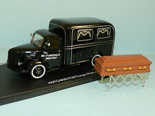 MODIFIED Eligor 1/43 scale HOTCHKISS PL20 / PL50 HEARSE with church truck
