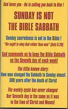 SUNDAY IS NOT THE BIBLE SABBATH BOOK~10 COMMANDMENTS~LORD'S DAY ISSUES~ADVENTIST