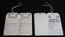 Richfield-Lot of 2 ORIGINAL Service Station Work Order Tickets-1949-COMPLETE!