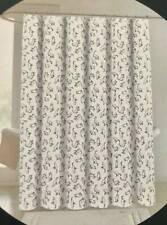 Cynthia Rowley White Black Kitty Cat Print Shower Curtain Cotton Blend 72x72