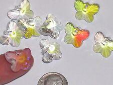 2pc Vintage Crystal Swarovski Butterfly lot Rhinestone bead charm hole 12x15mm