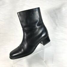 Vintage Blondo Women's Ankle Boots Black Leather Size 7 2A Narrow