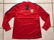 NWT NIKE SHIELD USA National Team RED Soccer Pullover Windbreaker Women's Medium