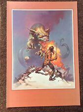 Boris Vallejo print 1994 Fantasy Art Vintage THE MAGNIFICENT Barbarian Dragon
