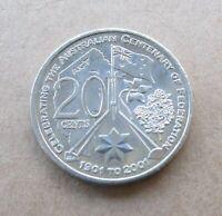 AUSTRALIAN  2001 CENTENARY OF FEDERATION...A.C.T...20 CENT COIN.