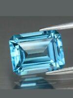 Topacio london blue 3.00ct 9x7mm octogonal natural de Brasil