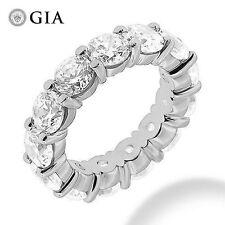 7.51 ct Round DIAMOND ETERNITY RING PLATINUM BAND 15 x 0.50 ct GIA E-F VS1 sz 7