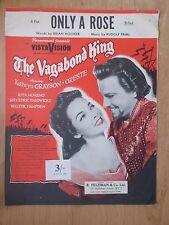 VINTAGE SHEET MUSIC - ONLY A ROSE - VAGABOND KING