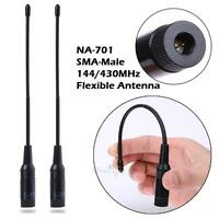 2pcs 144/430MHz NA-701 10Watts SMA-Male Antenna for Yaesu 6 7 8R Dual-Band Radio
