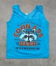 Vintage 80's Coon Ass Beer Sleeveless Shirt Tank screen stars genuine draft