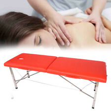 Home Salon Wooden Portable Massage Table Fold Beauty Therapy SPA Bed Chair Red