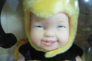 """Baby bees Anne Geddes doll 1998 15"""" Rare open mouth smile"""