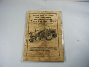 Orig. 1944 IH McCormick-Deering Farmall HM-150 Instruction Book Owners Manual