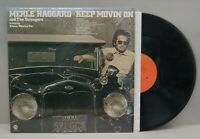 """Merle Haggard & The Strangers """"Keep Movin' On"""" 1975 Capitol Records EX/EX R-0543"""