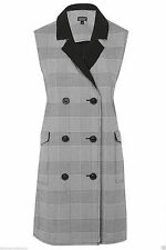Topshop Hip Length Checked Coats & Jackets for Women