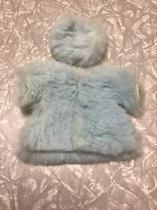 Vintage Vogue Ginny Doll Tagged Outfit Blue Fur Coat & Hat
