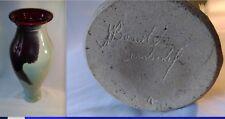 GRAND VASE EN GRÈS SANG DE BOEUF signé MICHEL BERODOT SEMBADEL Hauteur 51 cm