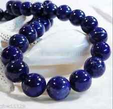 HUGE 16mm Natural Blue Lapis Lazuli GEMSTONE Round Bead Loose 15'' AAA