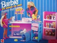 Vintage 1994 Barbie Doll So Much To Do! Pretty Pet Parlor #67154-Mattel New