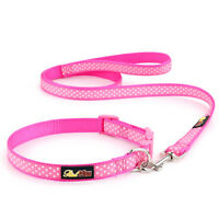 Pink Polka Dot Dog Collar and Matching Lead Set - Puppy and Dog