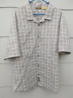 Cabela's Mens XXL Cool Max Short Sleeve Fishing Button Down Plaid Shirt NWOT