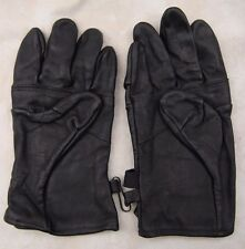 GENUINE US ARMY GLOVES BLACK LEATHER LIGHT DUTY UTILITY SZ 3 MEDIUM MEN - WOMEN